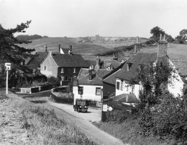 The pretty little village of Wareside, near Ware, Hertfordshire, England. Date: 1930s