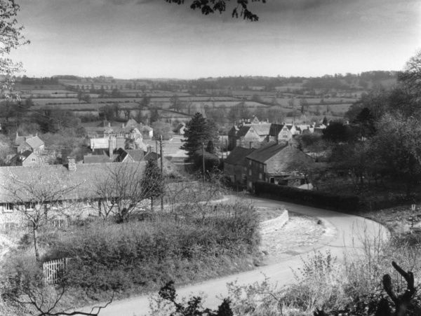 A general view of Warmington, Warwickshire, a quiet village on the border with Oxfordshire, England. Date: 1960s
