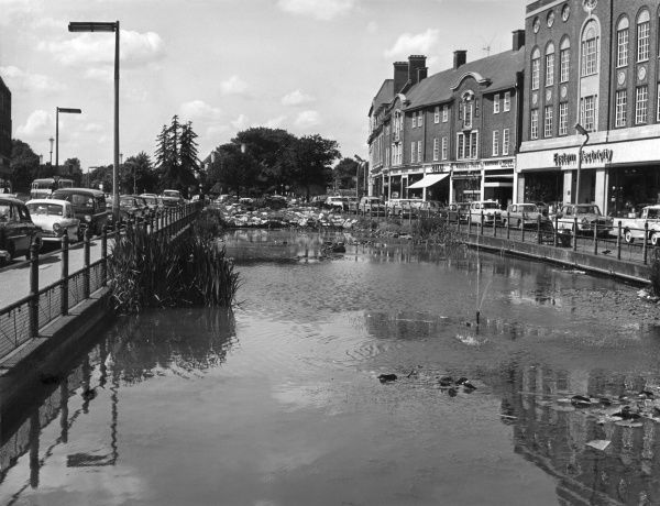 The Ponds, a well-known feature at Watford, Hertfordshire, England. Date: 1960s