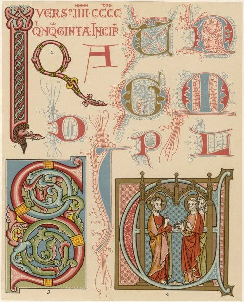 Initials by English illuminators, 12th and 13th century