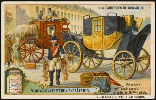 English stagecoach and mail coach