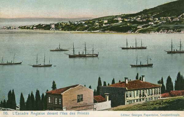 Turkey - The English Squadron moored off the Princes Islands
