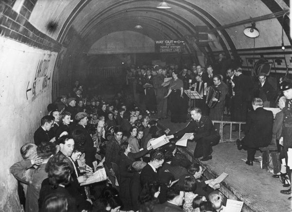 ENSA Concert in the Aldwych London Underground Station during World War II