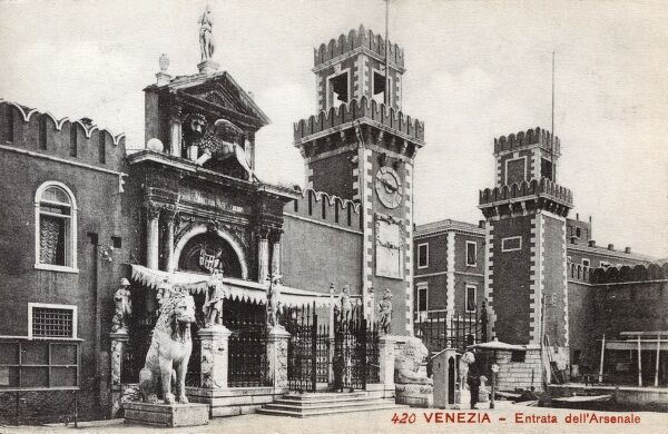 Entrance to the Arsenal - Venice, Italy Date: circa 1910s