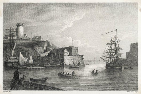 Ships and boats in the port at Brest