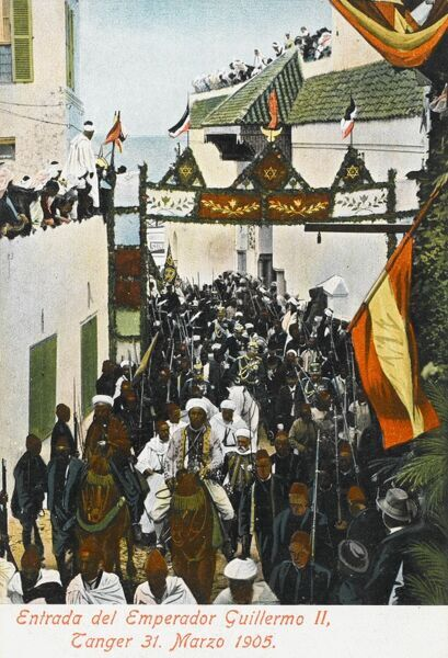 Entrance of the German Emperor Wilhelm II into Tangiers, Morocco - 31st March 1905