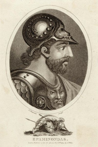 EPAMINONDAS - Greek (Theban) Soldier and statesman involved in conquest of Sparta