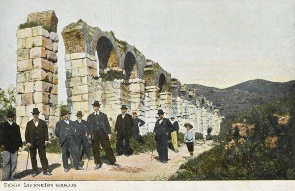 Remains of the Aqueduct at the site of Ancient Ephesus, Turkey