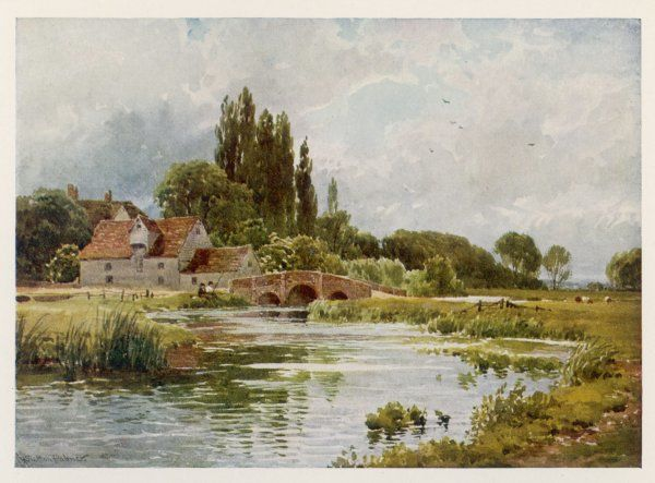 Essex scenery: the River Stour at Dedham