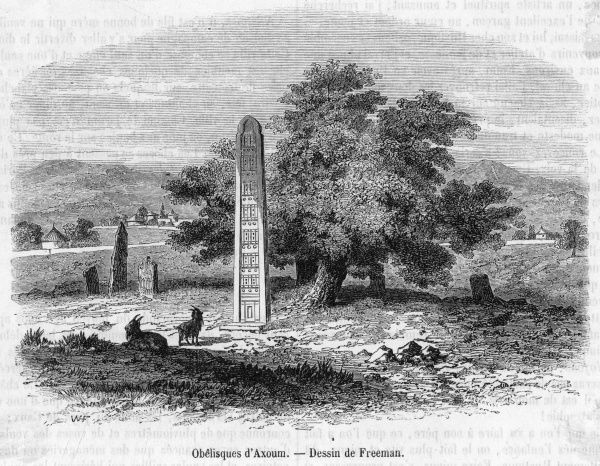 The obelisks : Aksum is noted for its ruins