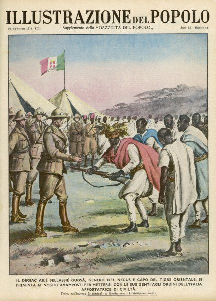 After the defeat at Adwa, an Ethiopian general surrenders to the Italians