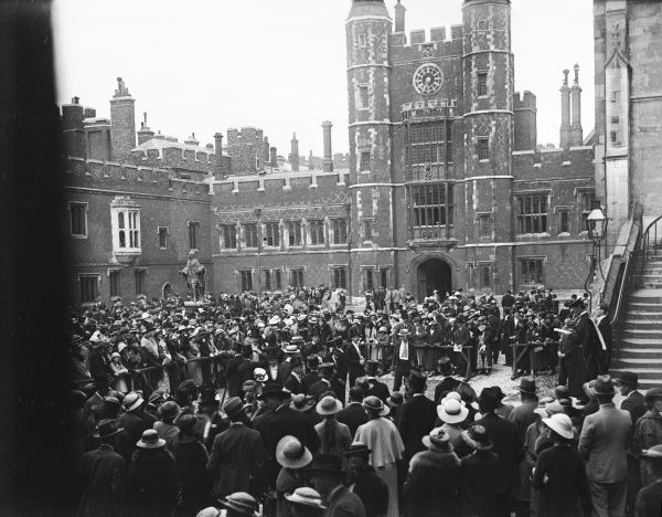 'Absence' (roll call) in the Quadrangle at Eton College, Berkshire, England