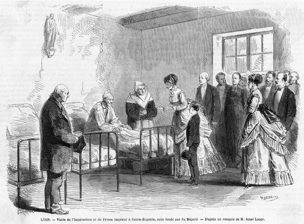 In the summer of 1869, she pays a kindly visit to an old folks' home in Lyon