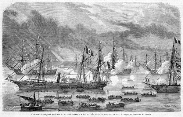 When Eugenie visits Toulon, she is greeted by salvoes of welcoming guns from the warships congregated in the harbour
