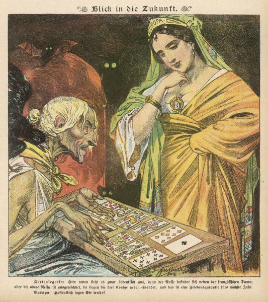 Europe has her fortune told, but what do the cards foretell?