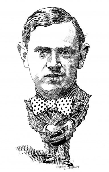 EVELYN WAUGH Portrait of the English novelist and satirist