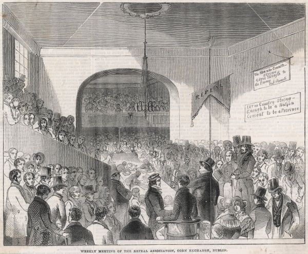 Meeting of the Repeal Association at the Corn Exchange in Dublin