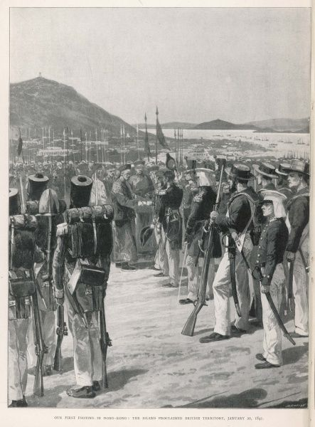 The British take over the island, occupied by them since 1839 but now formally ceded by the Chinese and confirmed by the Treaty of Nanking 1842