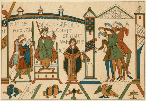 HAROLD II crowned in Westminster Abbey