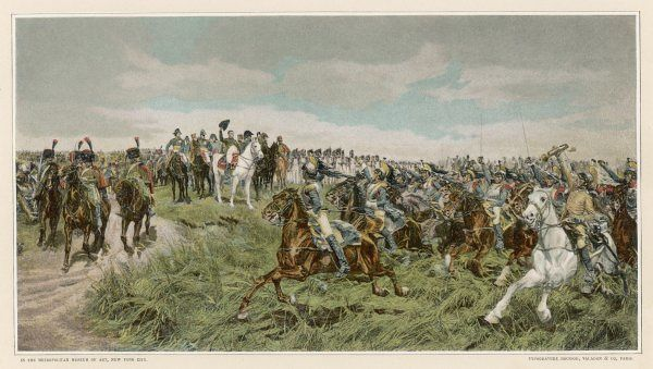 BATTLE OF FRIEDLAND After Napoleon's defeat of the Russians, he is saluted by his enthusiastic cavalry (not shown, the 8000 killed or wounded)