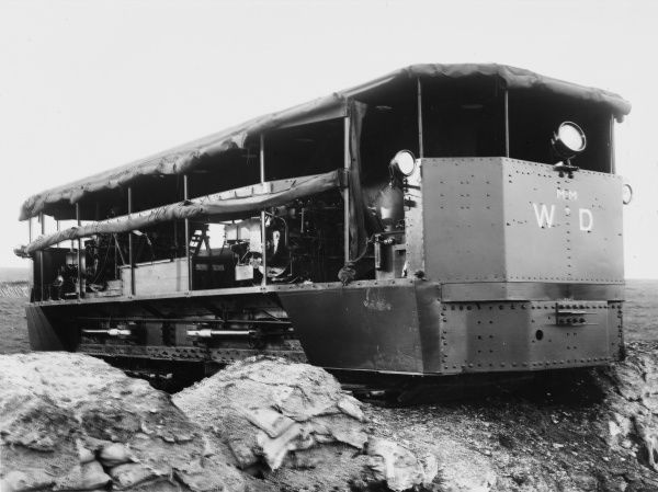 Experimental Diplock Pedrail Tractor (Landship or Infantry Carrier idea) during World War I