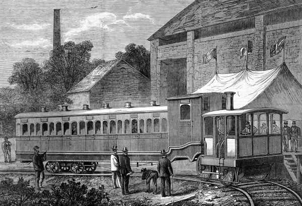 Fairlie's steam carriage; an invention that gained much criticism, due to its unusual seating design