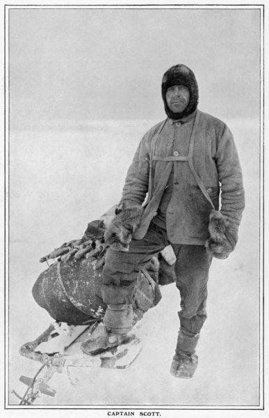 Captain Scott on his last journey to the Antarctic