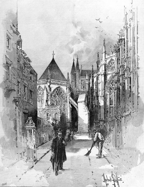 Illustration showing the proposed site of a new monumental chapel at Westminster Abbey, 1894