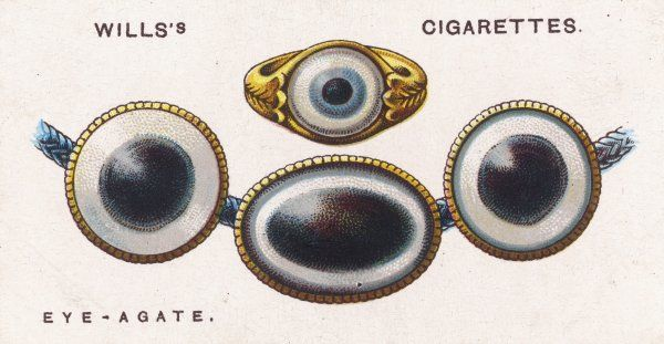 EYE-AGATE TALISMAN Some agates, when cut, resemble an eye - so they are worn as a protection against the Evil Eye