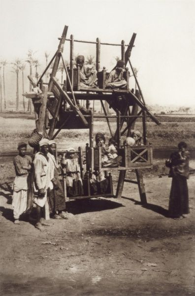CAIRO, EGYPT - An Arab-style amusement wheel