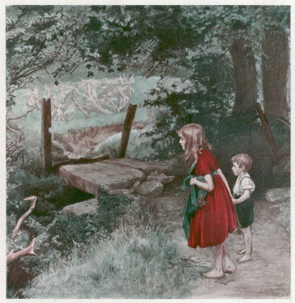 Children watch fairies dancing and creating a fairy ring