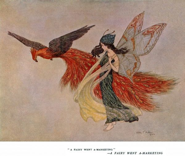 A fairy went a-marketing -- a fairy and a peacock, flying side by side. 1922