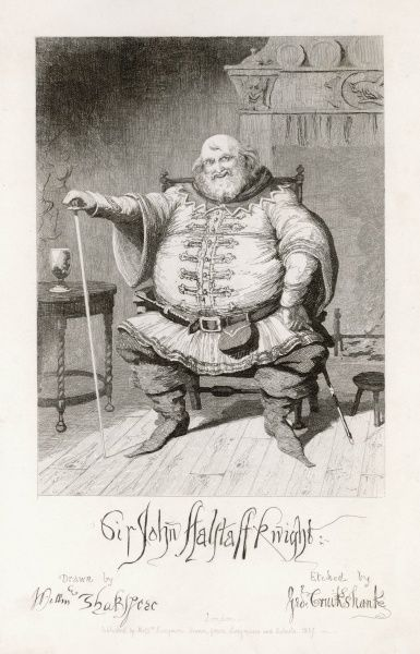 Falstaff from Henry IV by Shakespeare