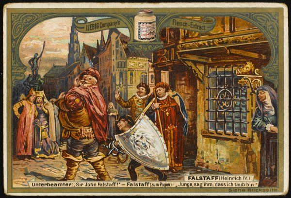Falstaff and the page at the tavern