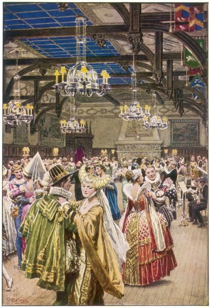 A fancy dress ball in the Baronial Hall, Blackpool - just one of several splendid dance venues in this popular holiday resort