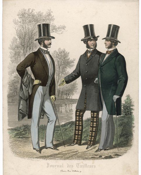 Three gentlemen meet and talk in a park