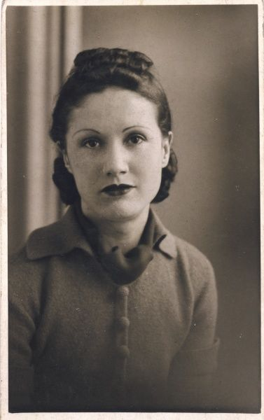 A fashionable young lady of the 1930s