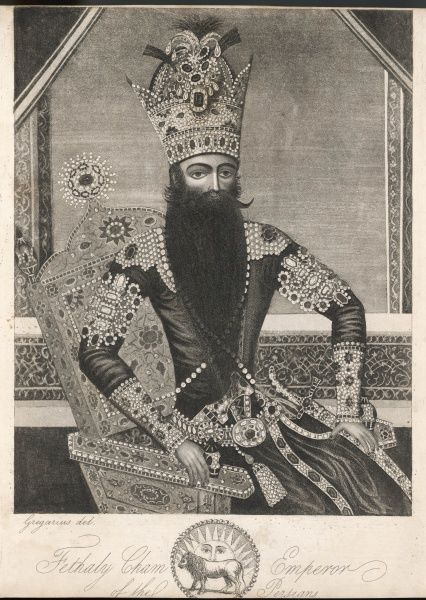 FATH ALI SHAH, nephew of Agah Mohammad Khan, Shah of Persia from 1797 to 1834