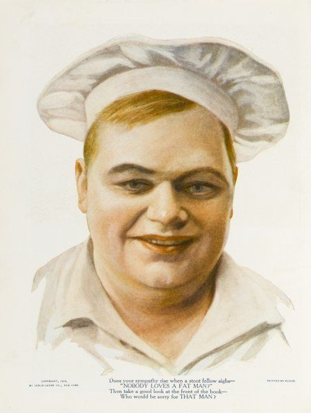ROSCOE 'FATTY' ARBUCKLE American film actor dressed as a chef