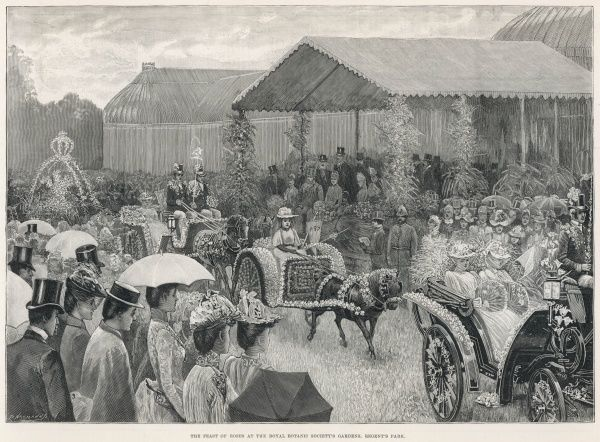 The 'Feast of Roses' parade in the Royal Botanic Society's Gardens, Regent's Park, in 1889