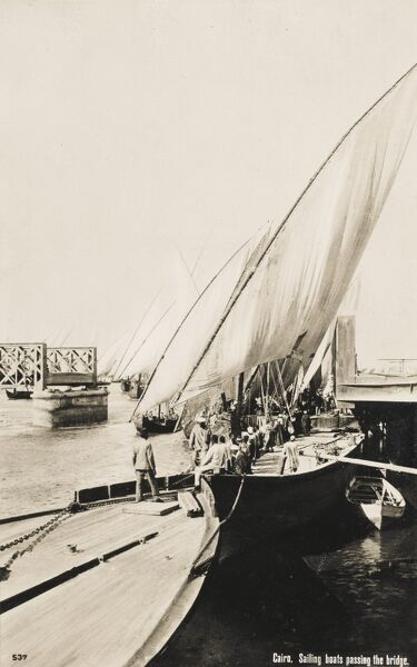 Feluccas and Dhows of the River Nile, Egypt