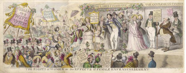 Cruikshank's satirical projection of the effects of female enfranchisement
