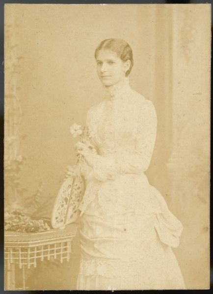 Young Victorian woman, possibly an actress