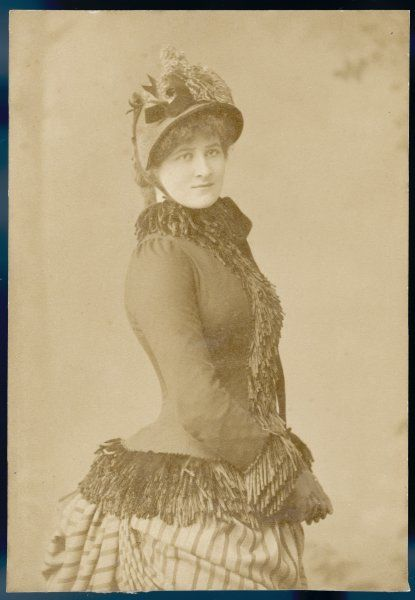 Victorian woman in outdoor dress