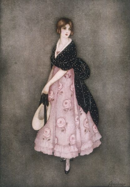 A romantic-looking young Victorian woman