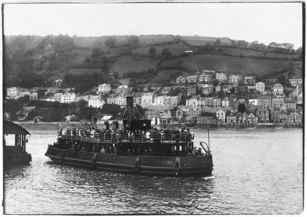 The size of the steam ferry at Dartmouth is an indication of the number of people who need to cross the Dart from this bank to that, or that bank to this, as the case may be