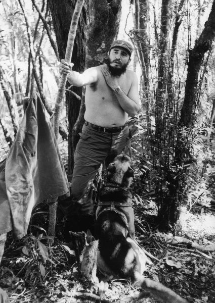 FIDEL CASTRO - President of Cuba, on manoeuvres in the jungle in 1965. *UNAVAILABLE FOR USE IN ASIA AT PRESENT*