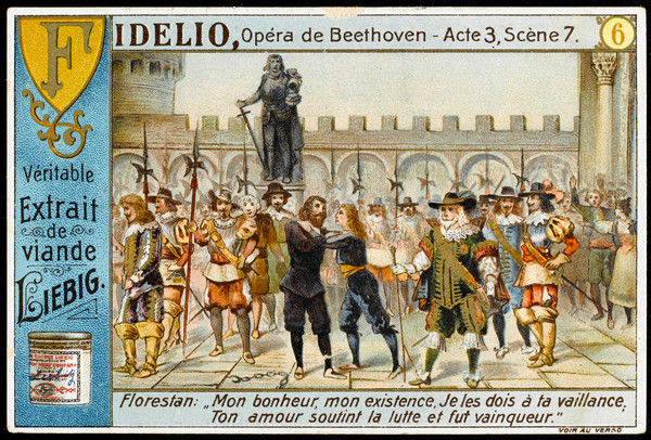 'FIDELIO' Act 3 scene 7 - Fidelio/Leonora and Florestan are re-united, he is released, Don Pizarro is led away in chains, all is resolved