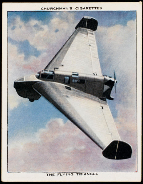 One of the few practicable delta-wing projects is this German Fieseler F-3 'Wespe' (Wasp) - very advanced for its day, but never developed into a fighting machine