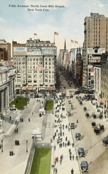 Fifth Avenue north from 40th Street, New York City, America